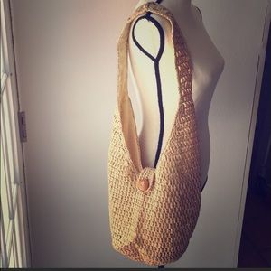 Handbags - Straw Boho Shoulder Purse Bag Bucket